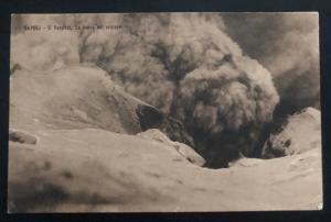 Mint Italy Real Picture RPPC Postcard Napoli Vesuvius Volcano Crater