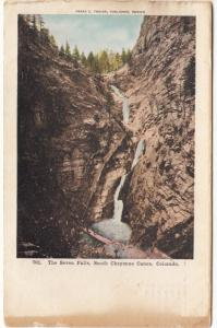 The Seven Falls, South Cheyenne Canyon Canon, Colorado, 1907 used Postcard