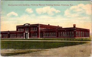 PITTSBURG, KS Kansas  MANUAL TRAINING SCHOOL  Mech Arts Bldg  c1910s   Postcard