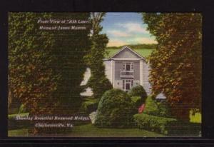 Virginia Postcard Ash Lawn James Monroe Charlottesville