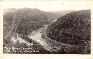 Gauley Bridge West Virginia~New River Canyon~Swimming Pool? in Front~1930s RPPC