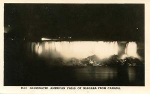 Canada - Ontario, Niagara Falls. American Falls.    *RPPC