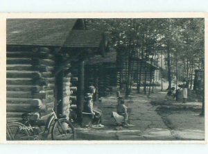 1940's PARK SCENE Penfield & Clearfield - Near State College PA AF7640