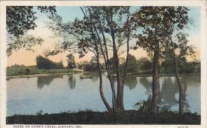 Indiana Elkhart Scene On Conn's Creek Curteich