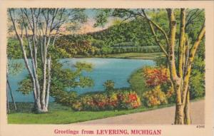 Michigan Greetings From Levering 1943