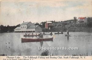 Pleasure Lake South Fallsburg NY 1911