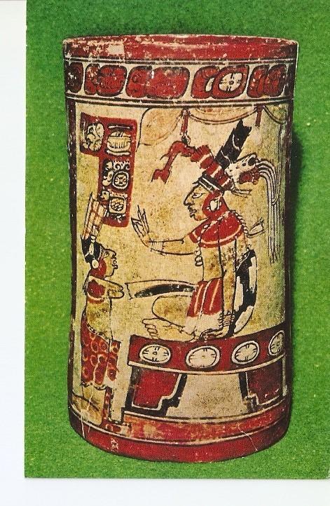 Postal 021719 : Vaso clasico Tardio 700 a?s d.C. Guatemala