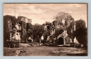 Raglan, UK-United Kingdom, Raglan Castle, Fountain Court, Vintage Postcard