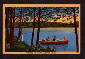 MI Greetings from ADRIAN MICHIGAN POSTCARD PC POST CARD