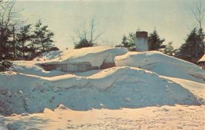 CRIVITZ WISCONSIN PSTMK HOUSE COVERED BY WINTER'S CLOAK OF ERMINE POSTCARD 1966