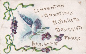 FARGO, North Dakota, 1900-1910's; Convention Greetings, Dove