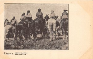 G33/ North Yakima Washington Postcard c1910 Nativer American Indian Races