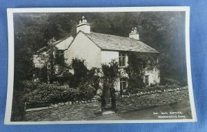 Vintage Real Photo Postcard Dove Cottage Wordsworth's Home Ambleside  C1