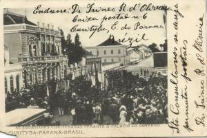 brazil, CURITYBA PARANA, Sociedades Palacio Governo (1905) Stamp