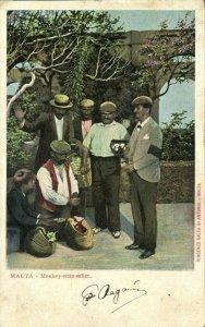 malta, Monkey Nuts Seller (1899) Postcard
