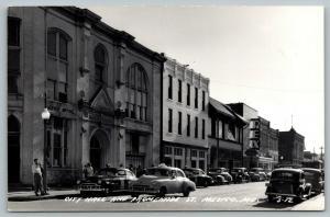 Mexico Missouri~Promenade Street~City Hall Police Car~Rex Theatre~1940s RPPC