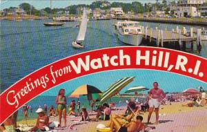 Rhode Island Watch Hill Greetings From Watch Hill Sailing Watch Hill Harbor B...