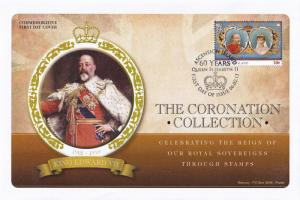 King Edward VII Ascension Island Royal Coronation First Day Cover