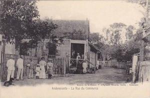 Madagascar Andovranto La Rue du Commerce Street Scene