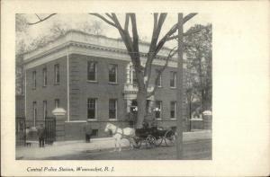 Woonsocket RI Police Station c1910 Postcard