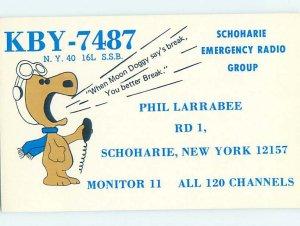 Pre-1980 RADIO CARD - CB HAM OR QSL Schoharie - Near Schenectady NY AH2731