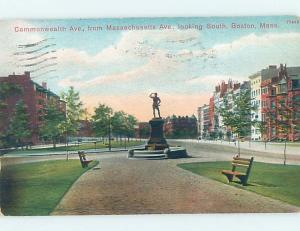 Divided-Back STREET SCENE Boston Massachusetts MA W2204