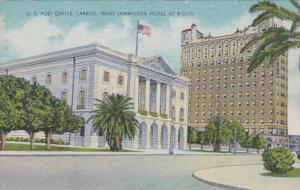Texas Laredo Post Office With Hamilton Hotel At Right