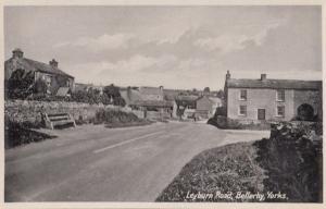 Leyburn Road Bellerby Yorkshire Village Vintage Rare Real Photo Postcard