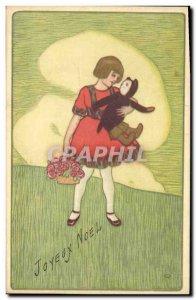 Old Postcard Fun Children Doll