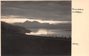 Austria Sonnenuntergang See, Lake Sunset Landscape Strasswalchen