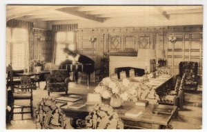 Chestnut Hill, Mass, Reception Room of the Sanatorium, RPPC