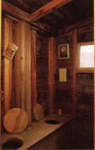 VT - Plymouth. Two-Hole Privy in the Calvin Coolidge Homestead