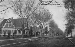 Shenandoah Iowa~Church Street~Residential Area~'12 CU Williams Blue Sky Postcard