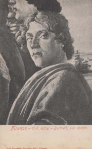 Firenze Botticelli Suo Ritratto Rare Uffizi Italy Art Gallery Painting Postcard