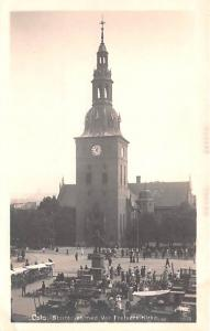 Norway Old Vintage Antique Post Card Startorvet med Vor Frelsers Kirke Oslo U...