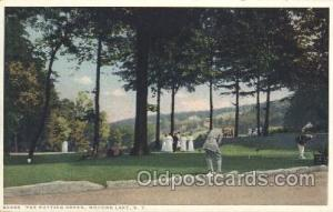 The Putting Green Golf Postcard Postcards  The Putting Green