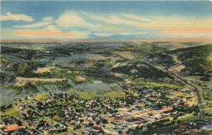 Raton New Mexico~Air View~1940s Postcard