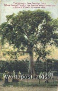 Surrender Tree Santiago Republic of Cuba 1912 Missing Stamp