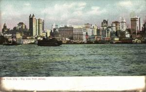 NEW YORK, N.Y., Sky Line from Jersey (1910s)