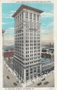 RICHMOND, Virginia, 1910s; First & Merchants National Bank Building, 9th & Main