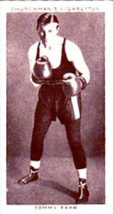 Churchman Cigarette Card Boxing Personalities No 15 Tommy Farr