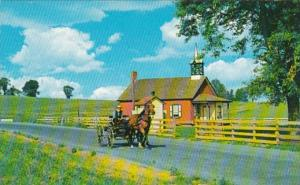 Ohio Greetings From The Amish Country Showing Little Red Schoolhouse