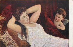 Art postcard A. Ritzberger - Sweet Dream - Doux reve - Traumen Engel Lady Angel