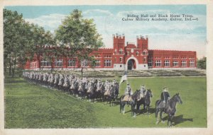 CULVER , Indiana , 1927 ; Riding Hall & Black Horse Troop, Culver Military Ac...
