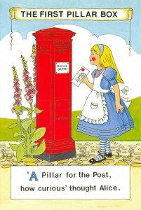 Postcard 2002 The First Pillar Box 'A Pillar for the Post' by Rosalind Wicks AC2