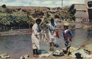 Madagascar Tananarive Women Washing Clothes Real Photo