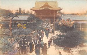 Kobe Japan Temple Birdseye View Antique Postcard K107424
