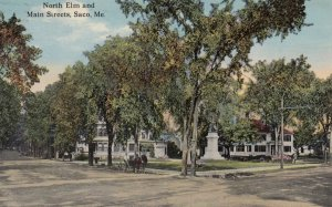 SACO , Maine , 00-10s ; North Elm & Main Streets