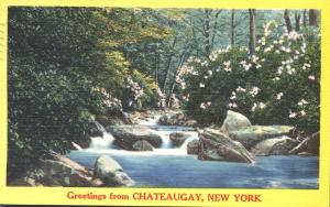 Greetings from Chateaugay, Franklin County NY, New York - pm 1964 - Linen
