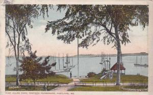 Maine Portland Fort Allen Park Eastern Promenade 1918